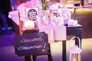 Hochzeitsdekoration Rockstein fotografie