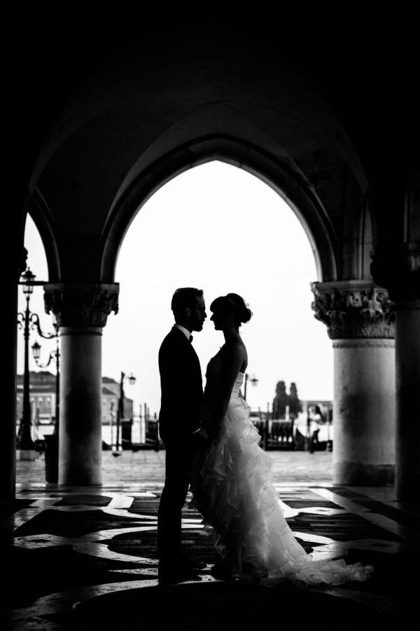 Schwarz Weiß Bild Venedig