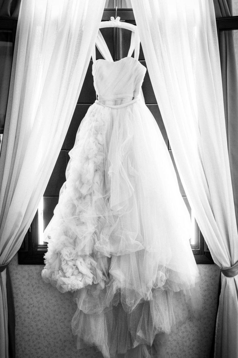 Getting Ready Brautkleid Detailaufnahme