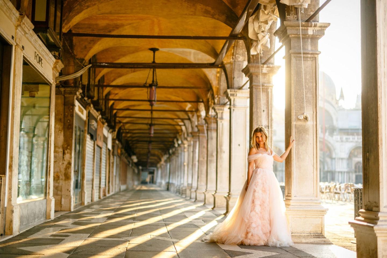 After Wedding Shooring in Venedig: Eine tolle Möglichkeit sein Brautkleid nochmal zu tragen