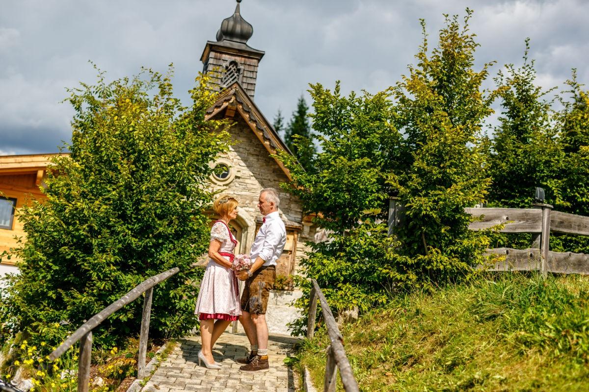 Hochzeitsshooting an der Brenner Alm in Österreich