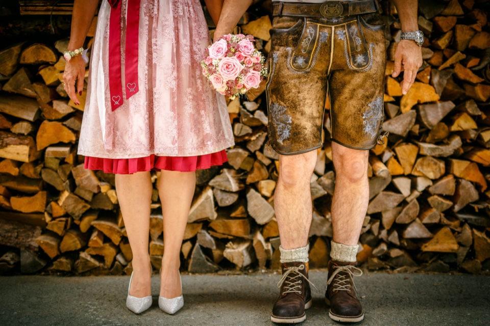 Hochzeitsfotos auf einer Alm in Österreich