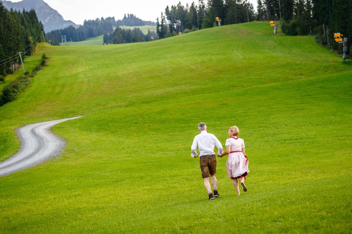 Hochzeit in Kitzbühel in den Bergen