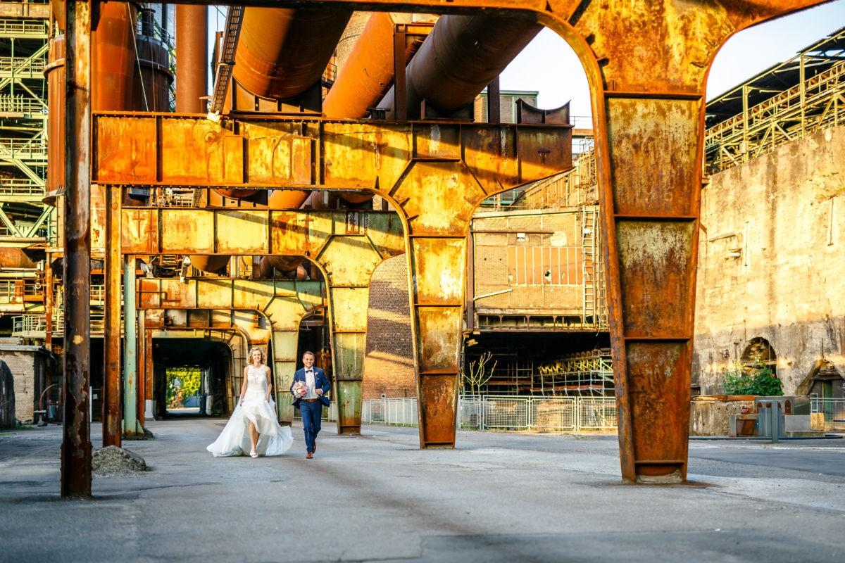 Als Hochzeitsfotograf Ruhrgebiet machen wir häufig Hochzeitsbilder vor Industriekultur