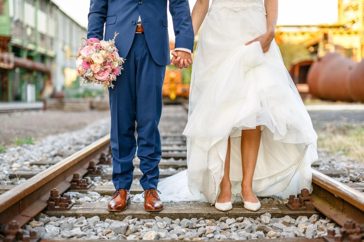 Bei diesen Hochzeitsbildern in Bochum wurden wir kreativ