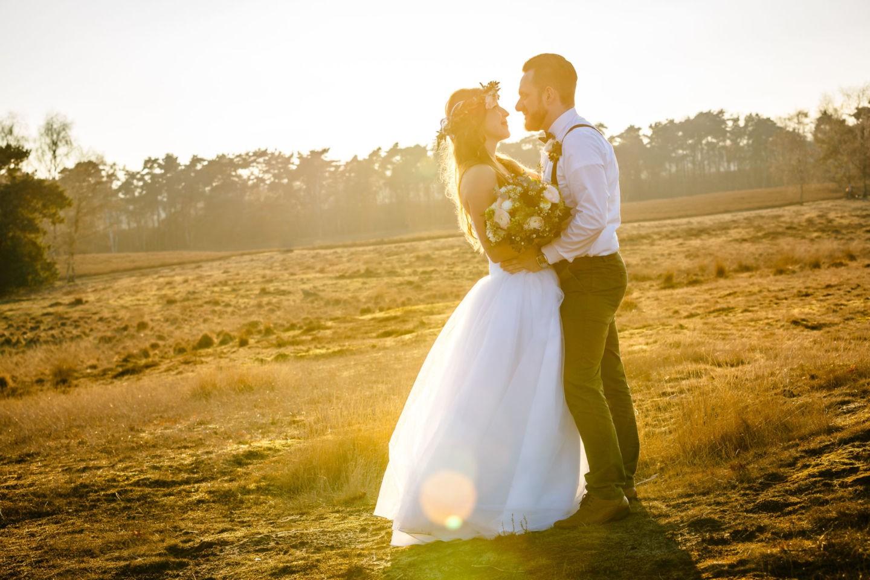 Ein Hochzeitsshooting in der Westruper Heide vom hochzeitsfotografen Haltern