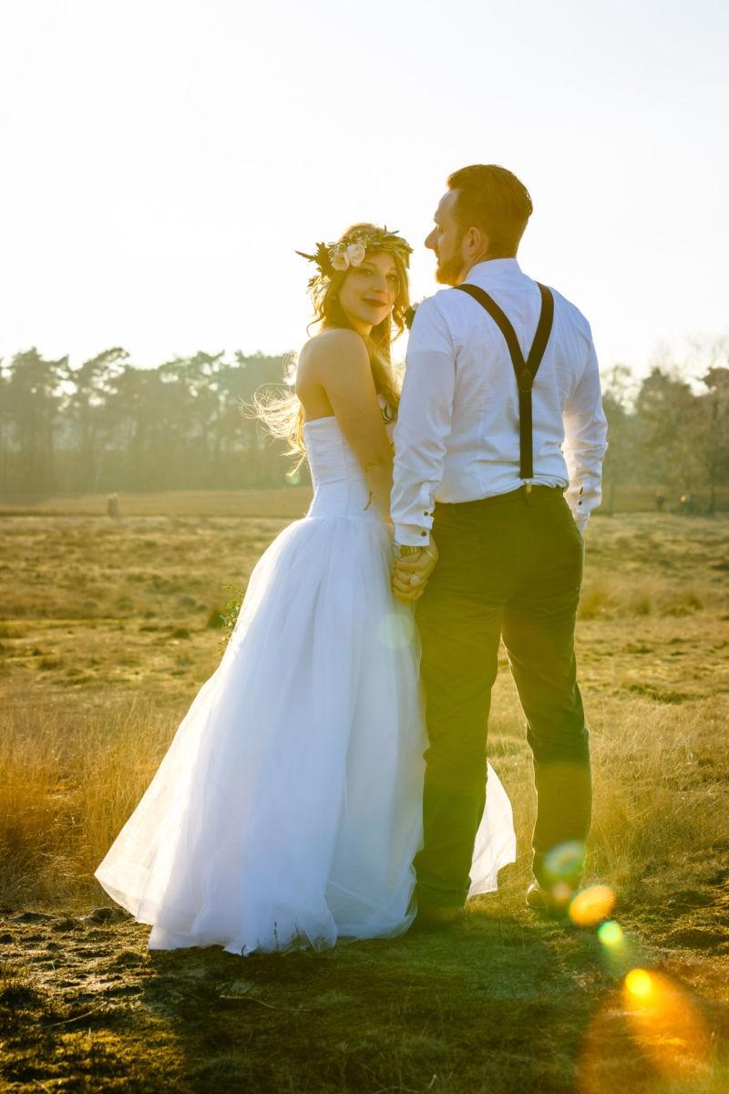 Paarshooting in der Westruper Heide in Haltern vom Hochzeitsfotografen