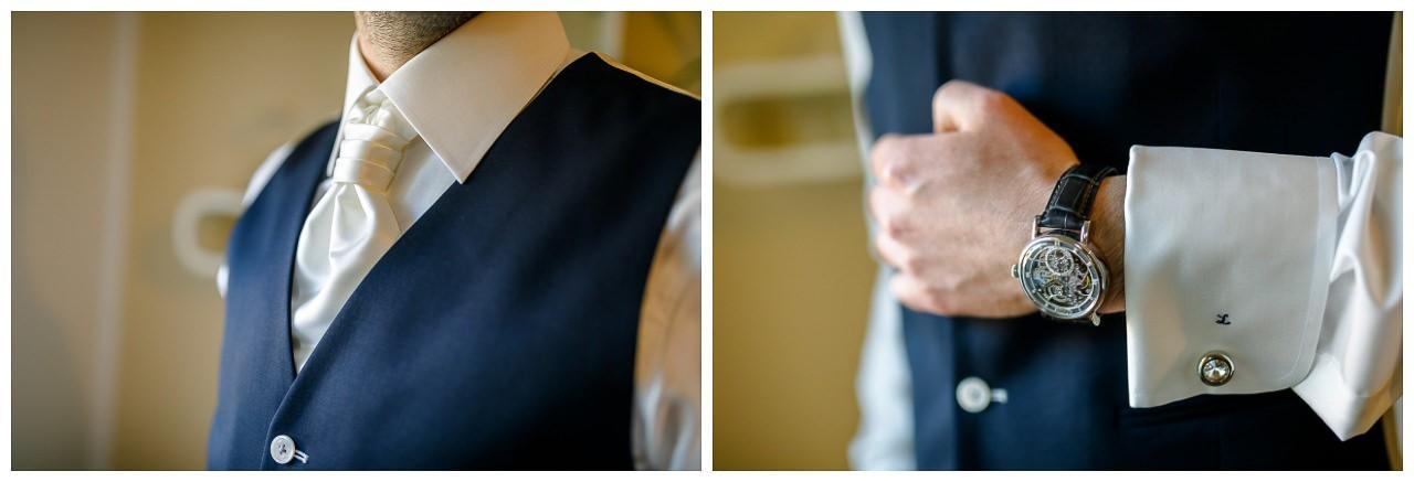 Nahaufnahme Hochzeitsanzug Bräutigam.