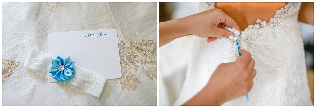 Strumpfband für die Braut am Hochzeitstag.