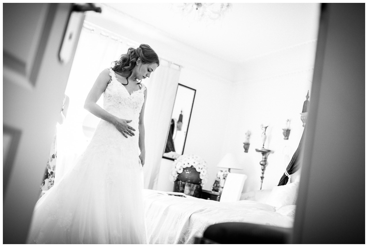 Getting Ready der Braut in der Villa Vera in Wetter.