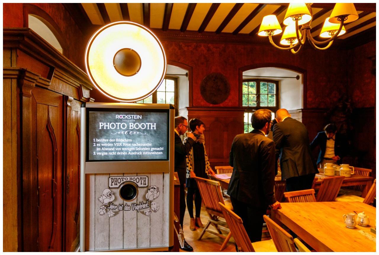 Fotobox auf der Hochzeit in Schloss Hackhausen.