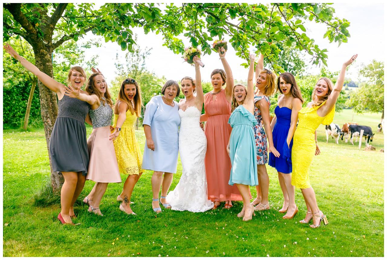 Foto Brautjungfern Hochzeit.