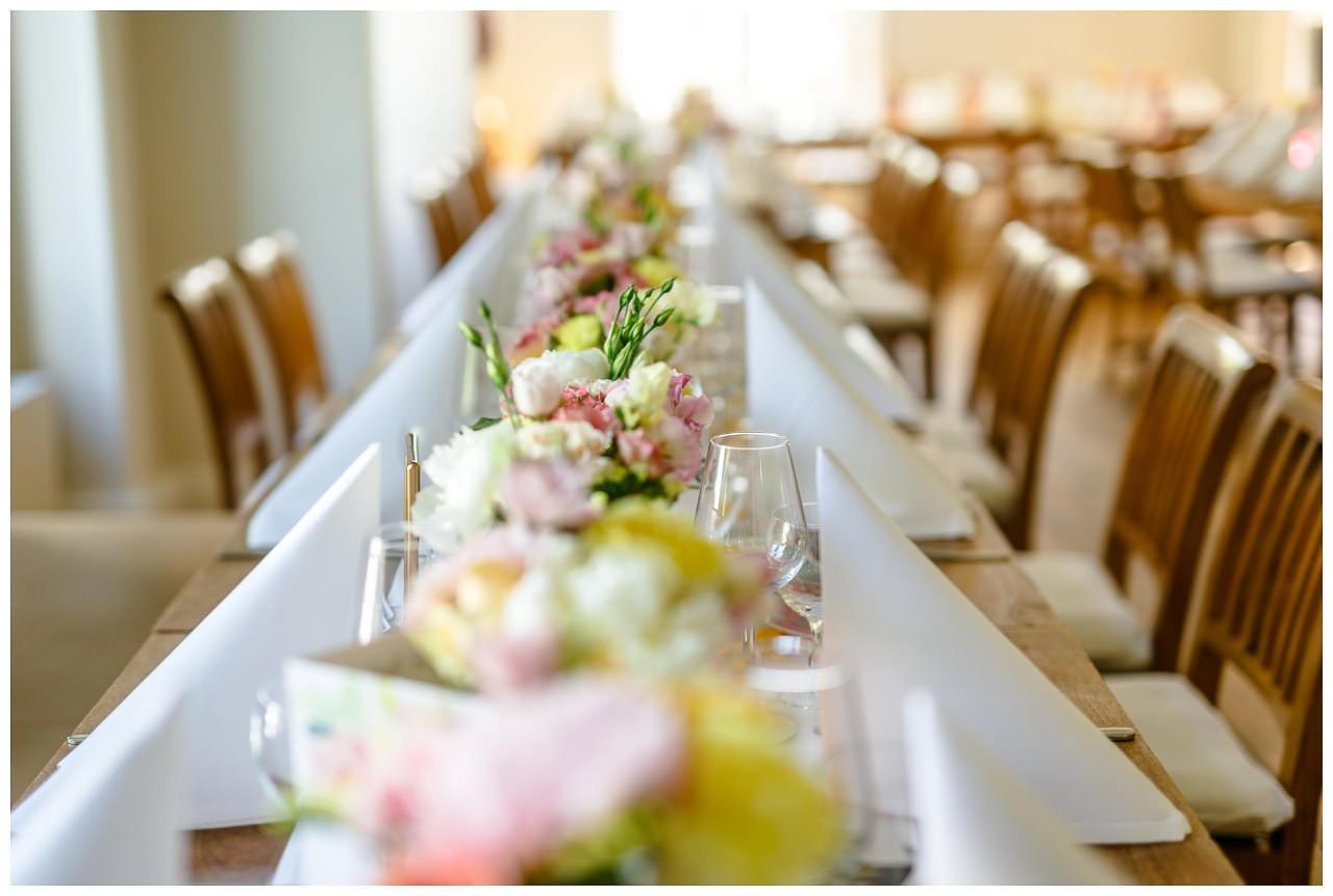 Hochzeitsdekoration Frühlingsblumen