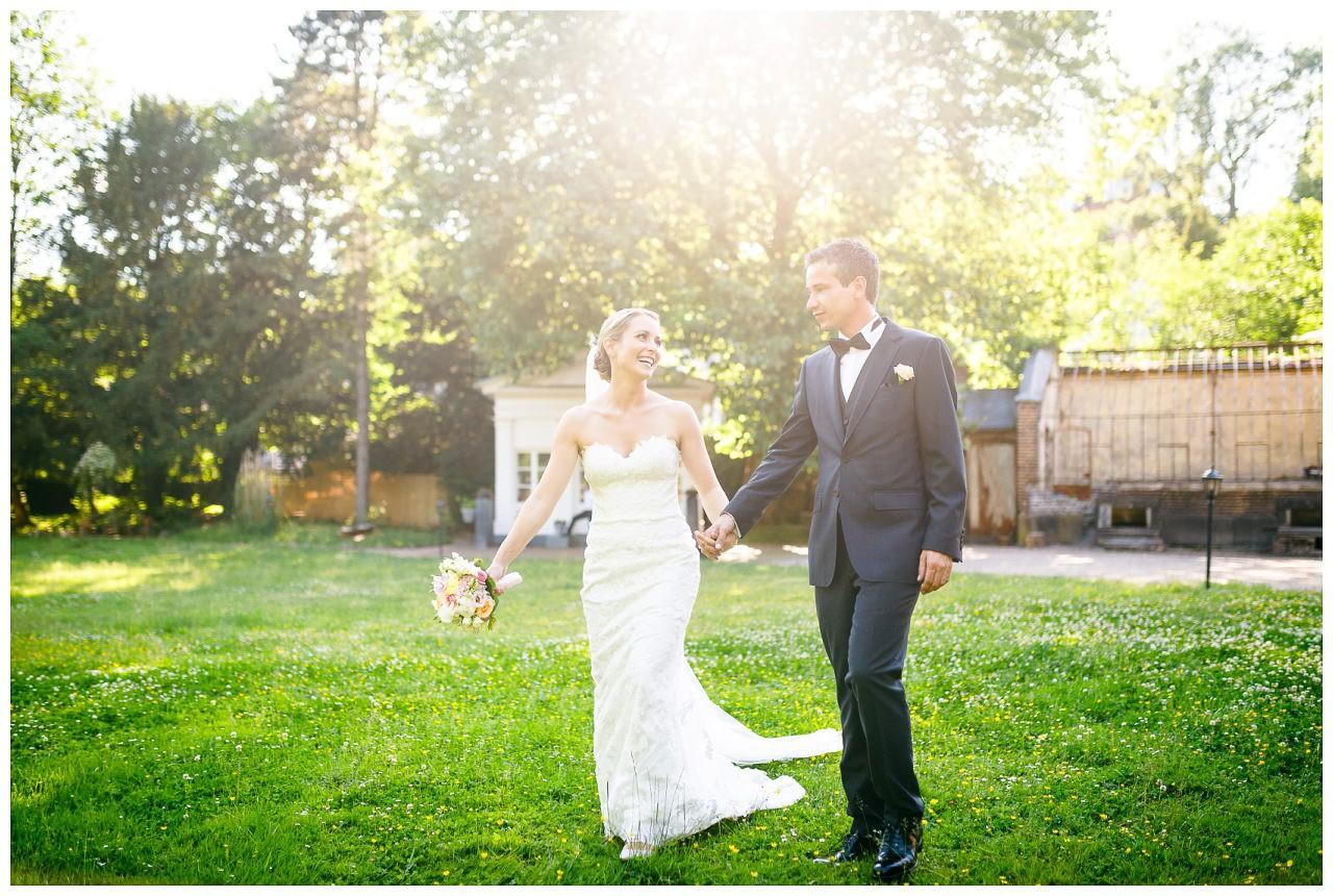 Brautpaar-Shooting Gegenlicht.