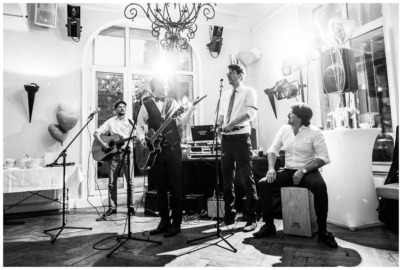 Hochzeits-Band bei der hochzeitsfeier.