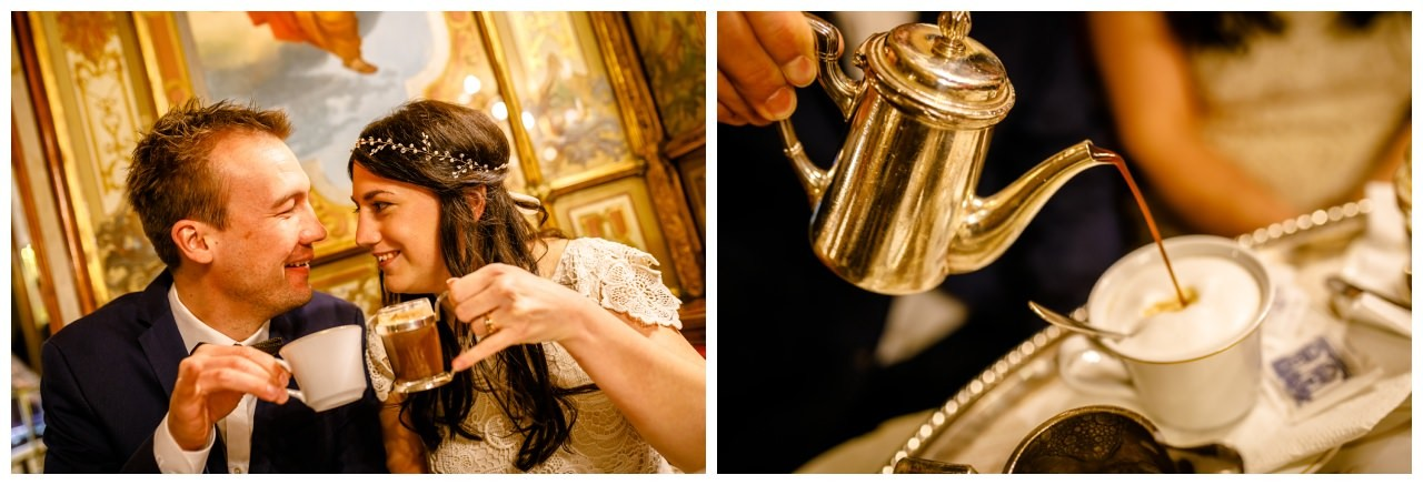 After Wedding Shooting in Venedig im Café Florian