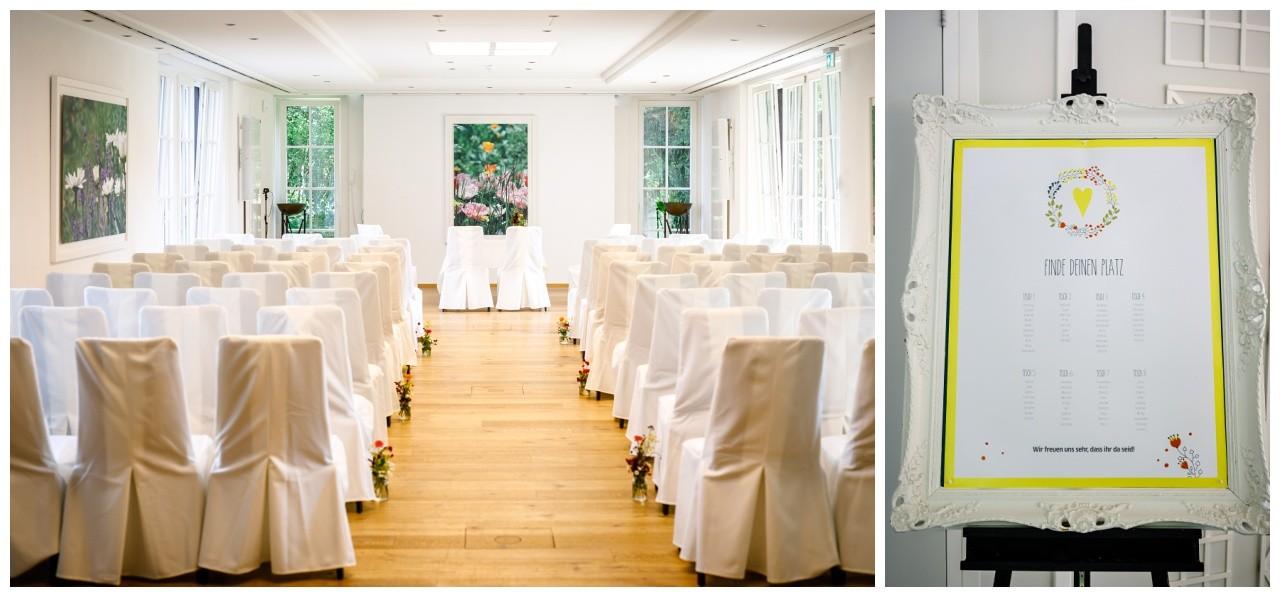 Freie Trauung in der Wipperaue in Solingen Hochzeitsfarben Gelb und Grün