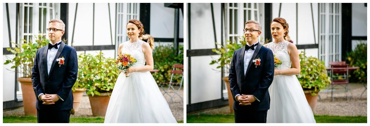 First Look zur Hochzeit an der Hochzeitslocation Solingen