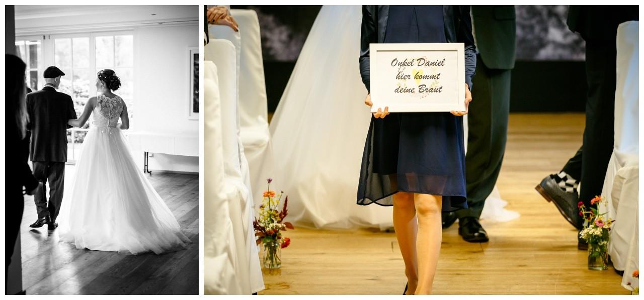Schild hier kommt deine Braut zur freien Trauung in Solingen