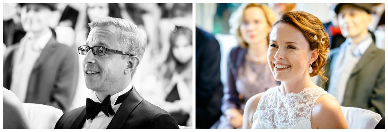 Hochzeit in der Wipperaue in Solingen das Brautpaar strahlt
