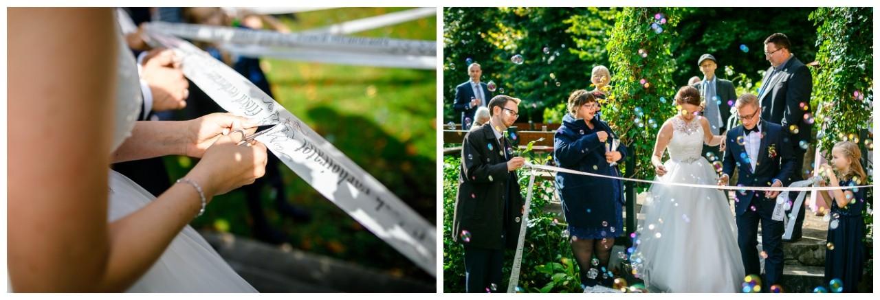 Hochzeitsspiel draußen an der Wipperaue in Solingen