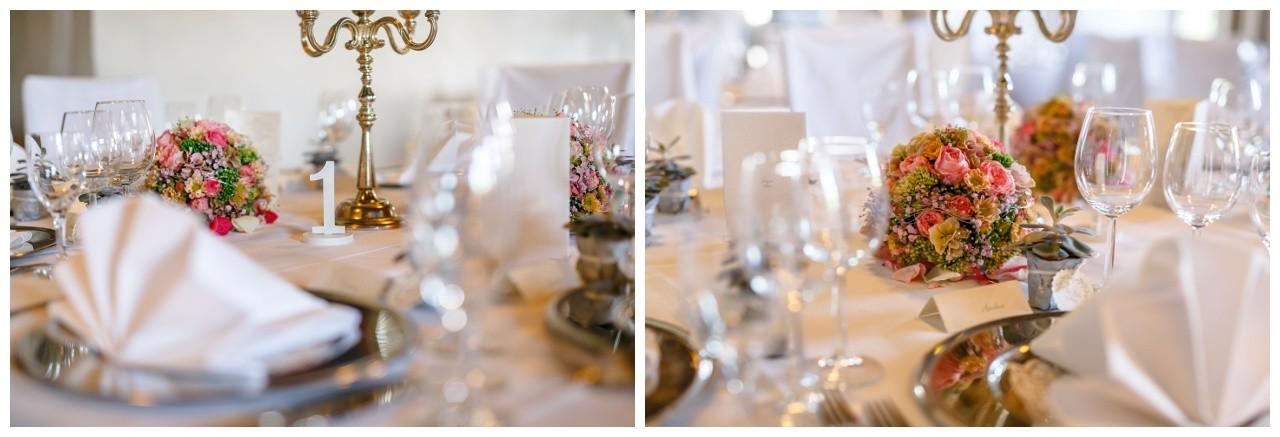 Hochzeitsdekoration rosa silber