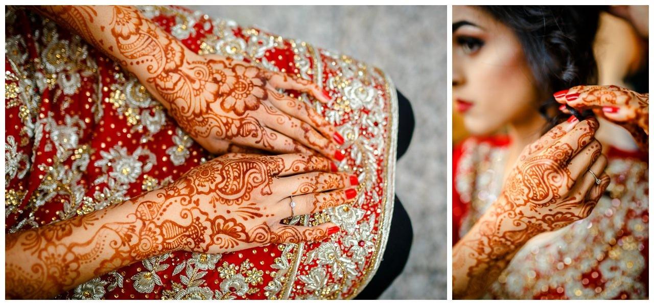 Traditionelle Hennamalerei für ie pakistanische Hochzeit in Köln