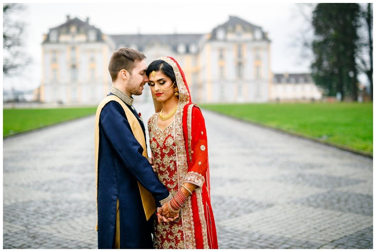Brautpaarshooting inidische Hochzeit Köln