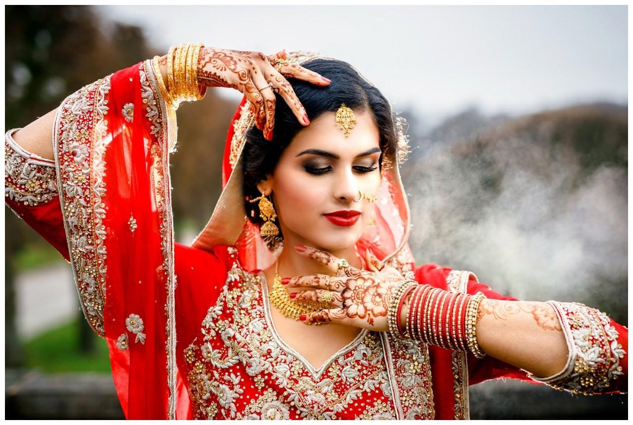 Brautshooting indische Hochzeit Köln