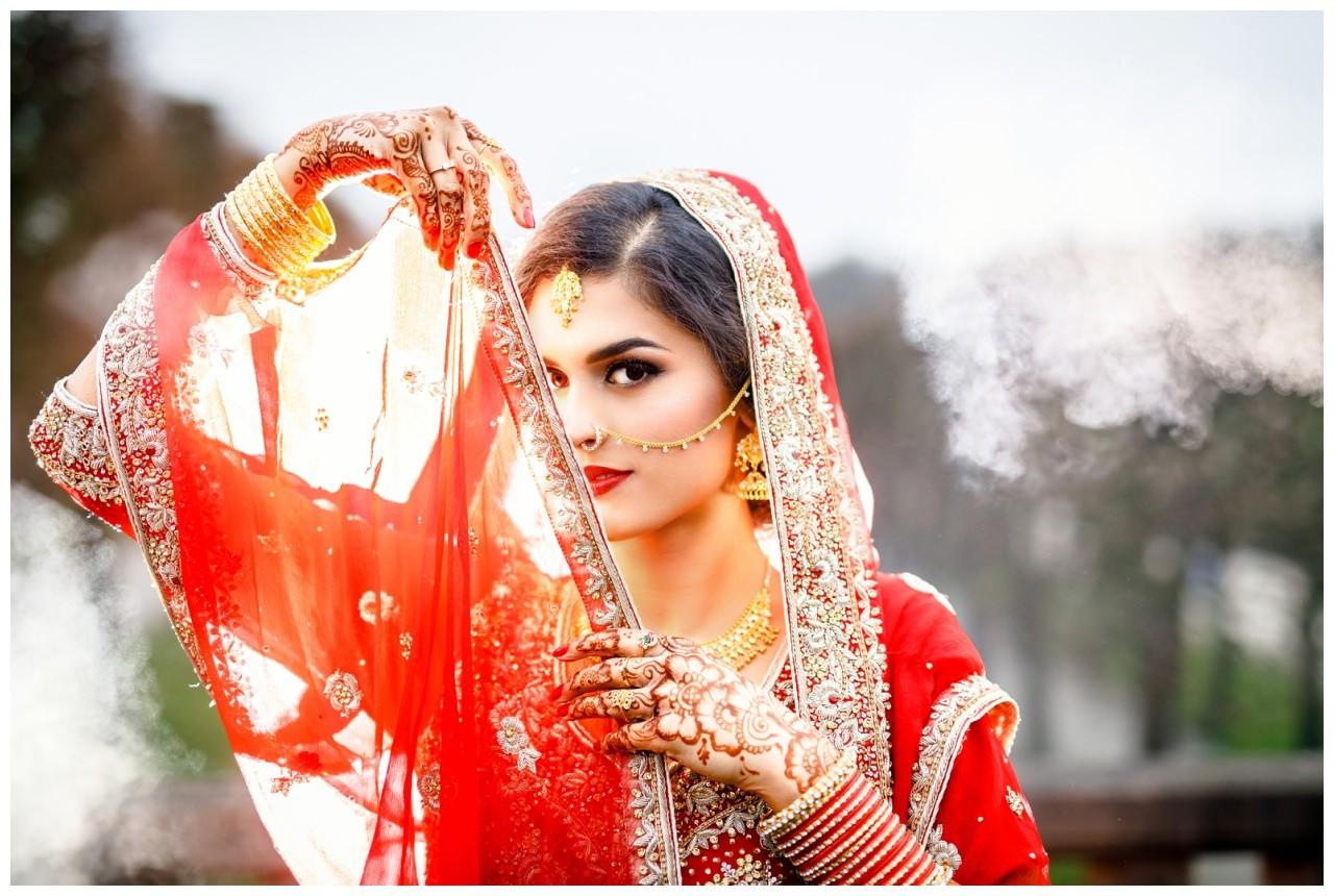 Brautshooting pakistanische Hochzeit Köln
