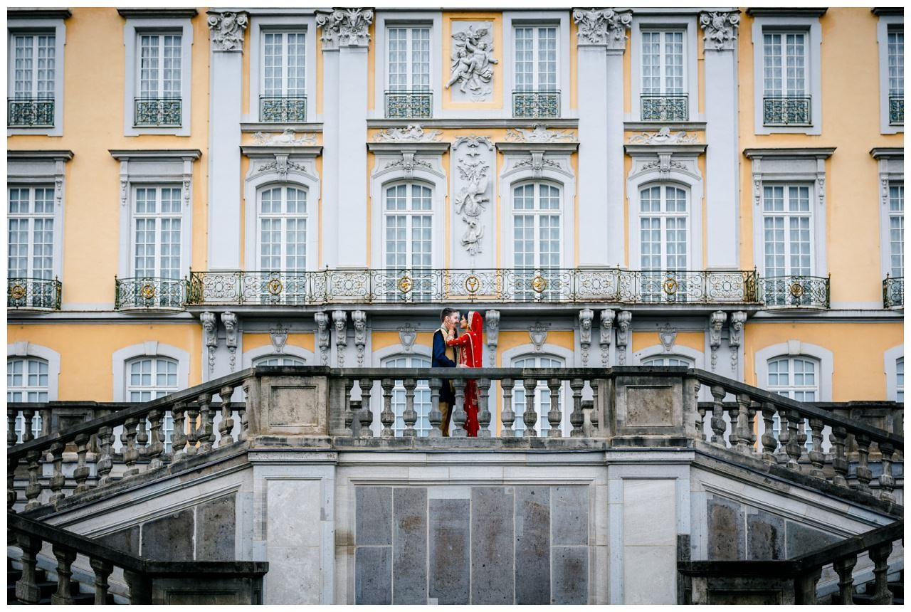 Hochzeitsfoto Schloss Brühl Köln