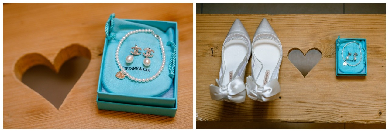 Der Brautschmuc von Tiffany & Co. für die standesamtliche Trauung auf der Fraueninsel liegt bereit