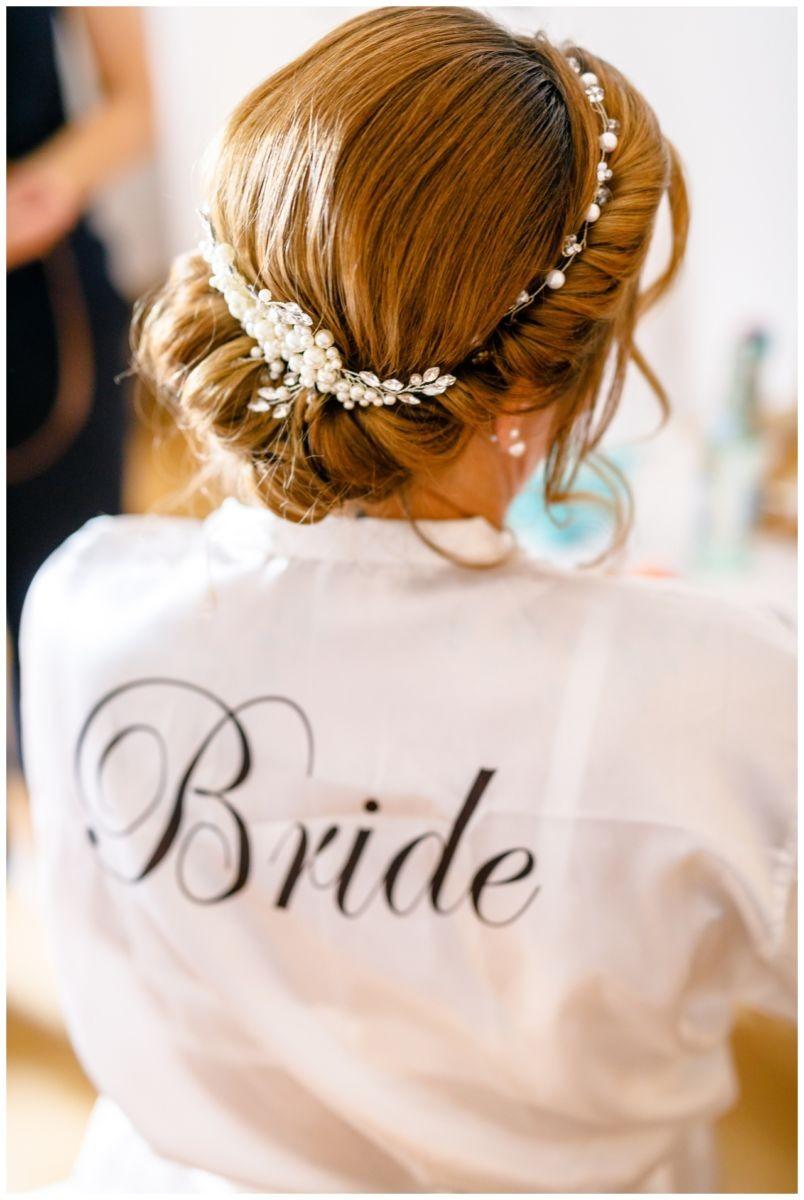 Die Brautfrisur standesamtliche Trauung Chiemsee