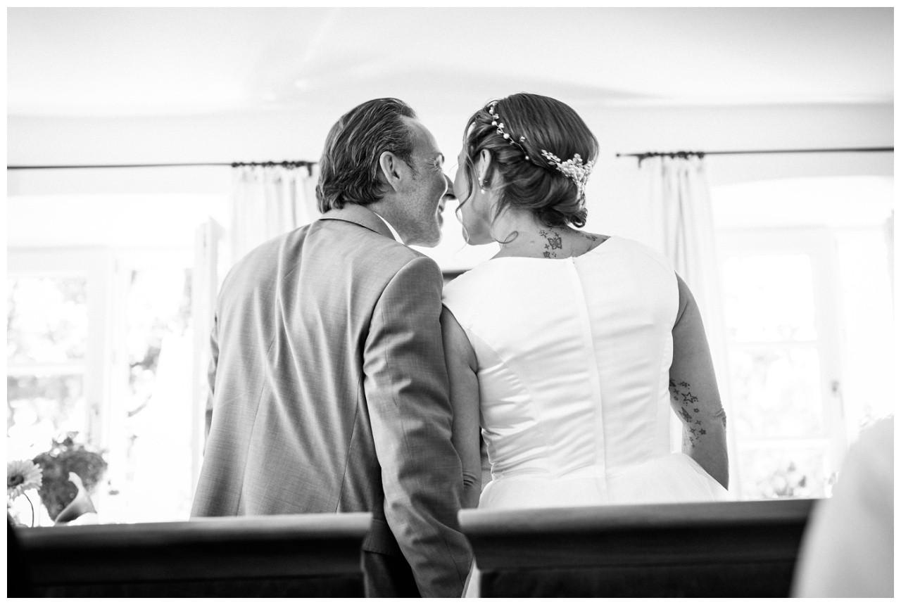 Hochzeitskuss bei der Hochzeit am Chiemsee