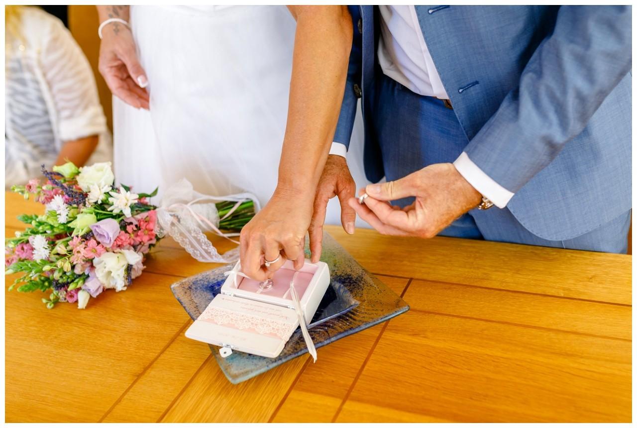 Ringtausch bei der Hochzeit am Chiemsee