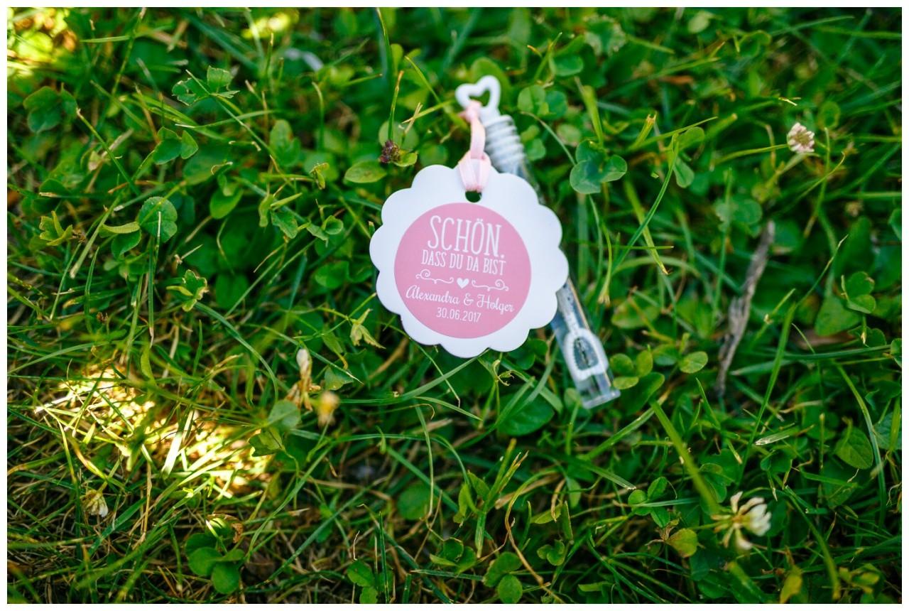 Seifenblasen für die Hochzeit am Chiemsee