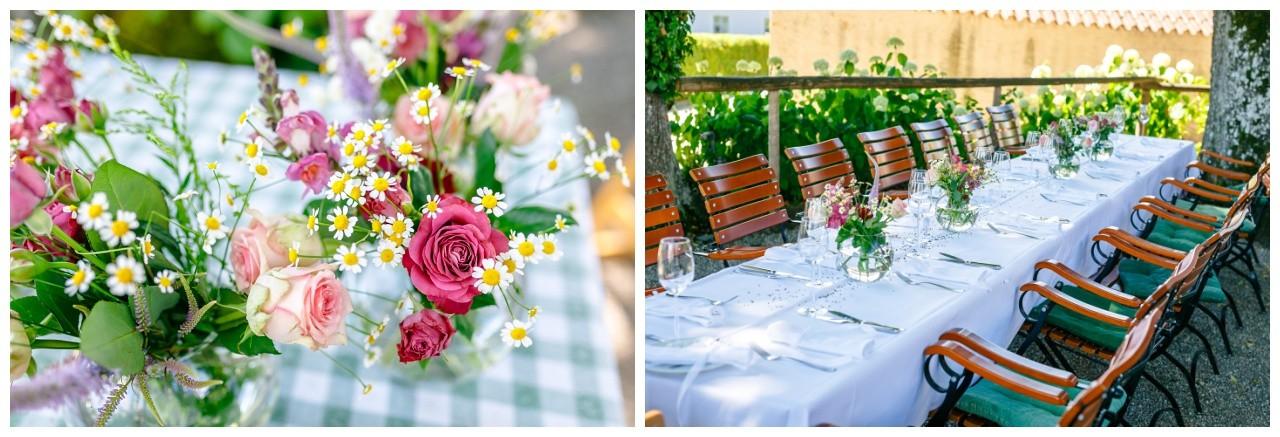 Hochzeitsdekoration für die Hochzeit auf der Fraueninsel Chiemsee