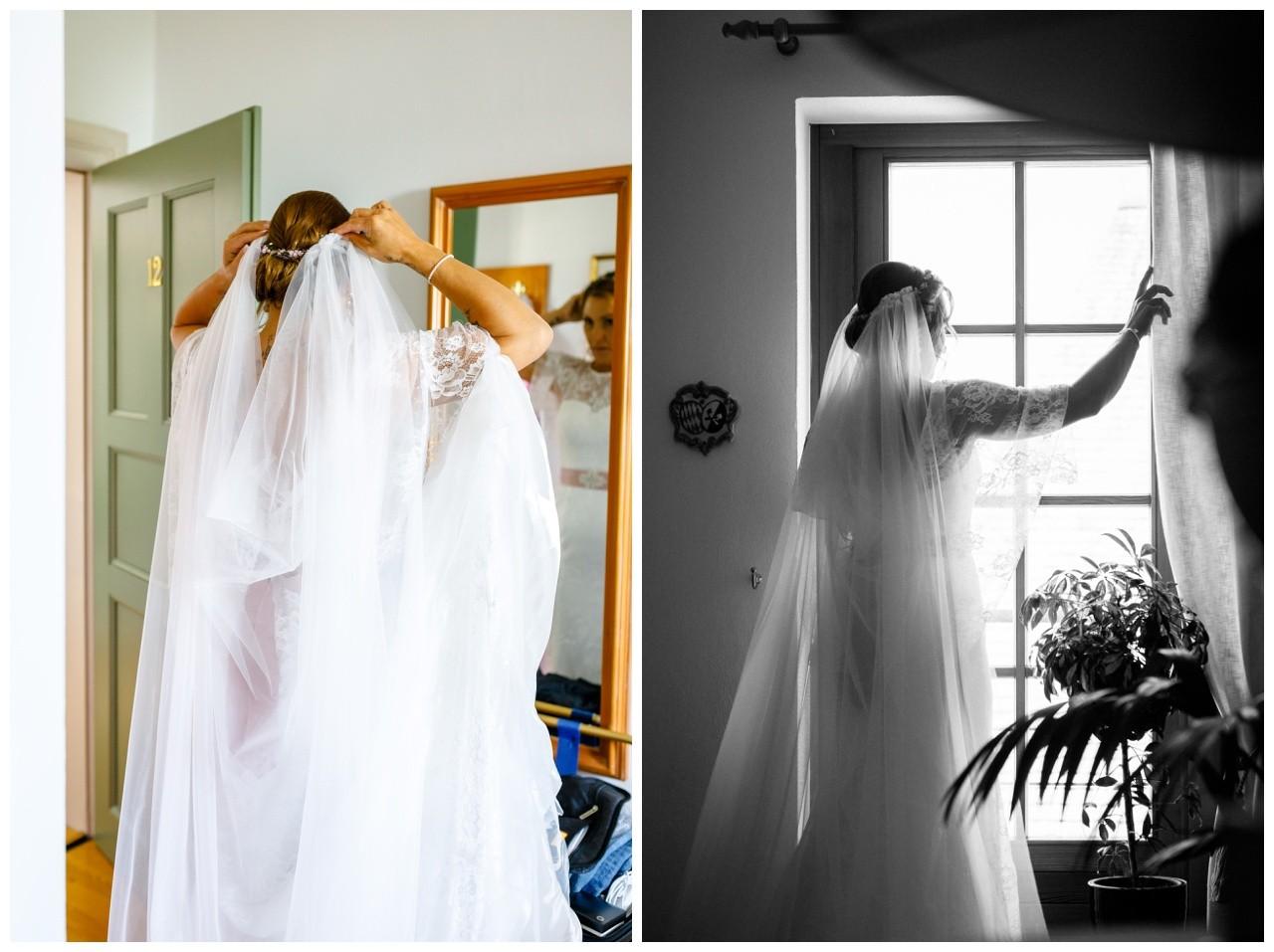 Schleier der Braut am Chiemsee