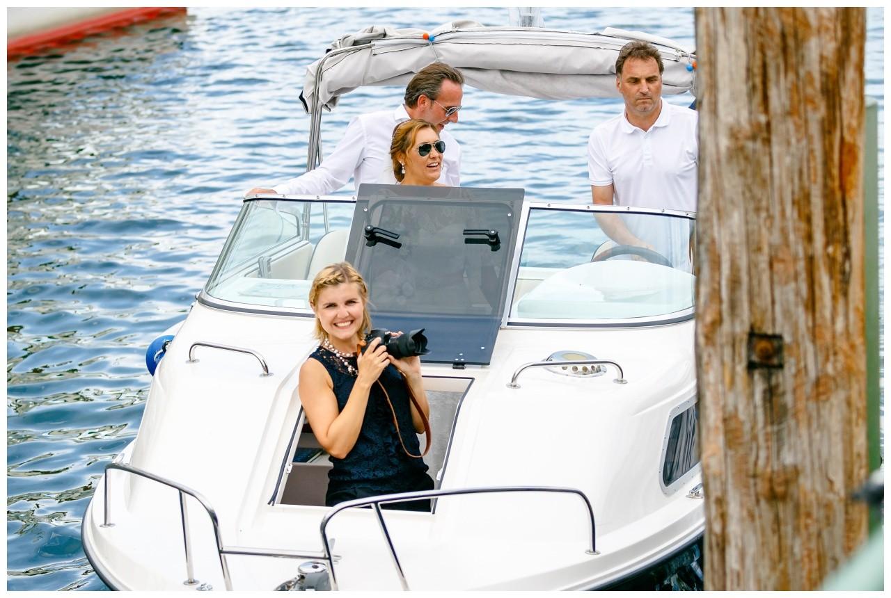 Fotografin Chiemsee auf dem Boot