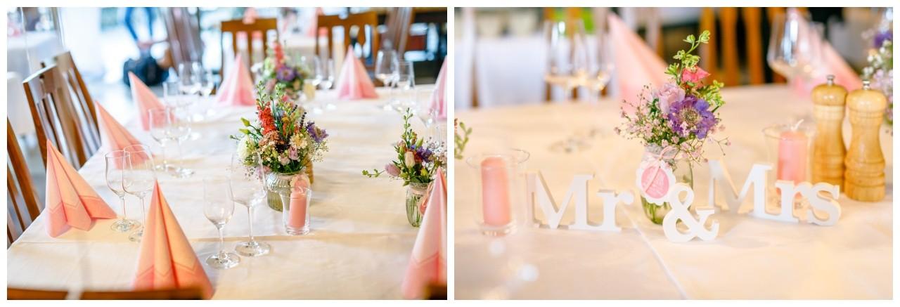 Hochzeitsdekoration Hochzeit am Chiemsee