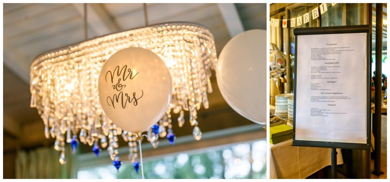 Hochzeitsdekoration bei der Hochzeit am Chiemsee