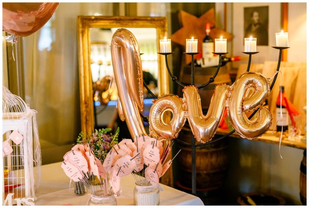 Love Luftballon zur Hochzeit am Chiemsee