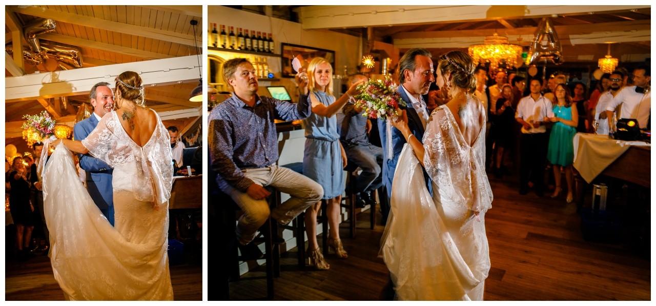 Der Hochzeitstanz bei der Hochzeit am Chiemsee