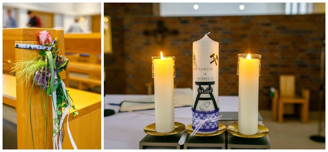 Kirchendekoration Ruhrpott Hochzeit in Gelsenkirchen