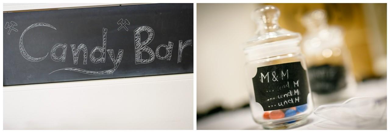 Candybar Ruhrpott Hochzeit schwarz weiß