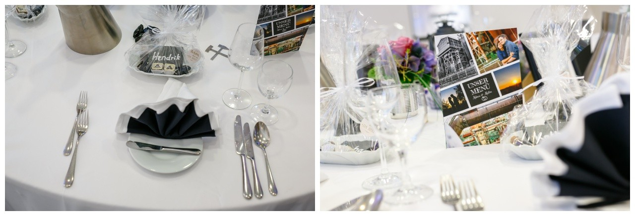 Hochzeitsdeko schwarz weiß