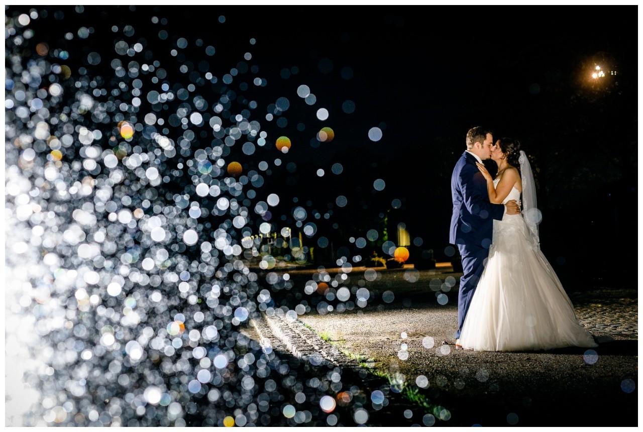 Nachtaufnahme bei der Hochzeit im Ruhrgebiet