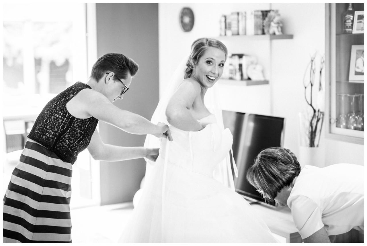 Getting Ready vor der Hochzeit in Mönchengladbach