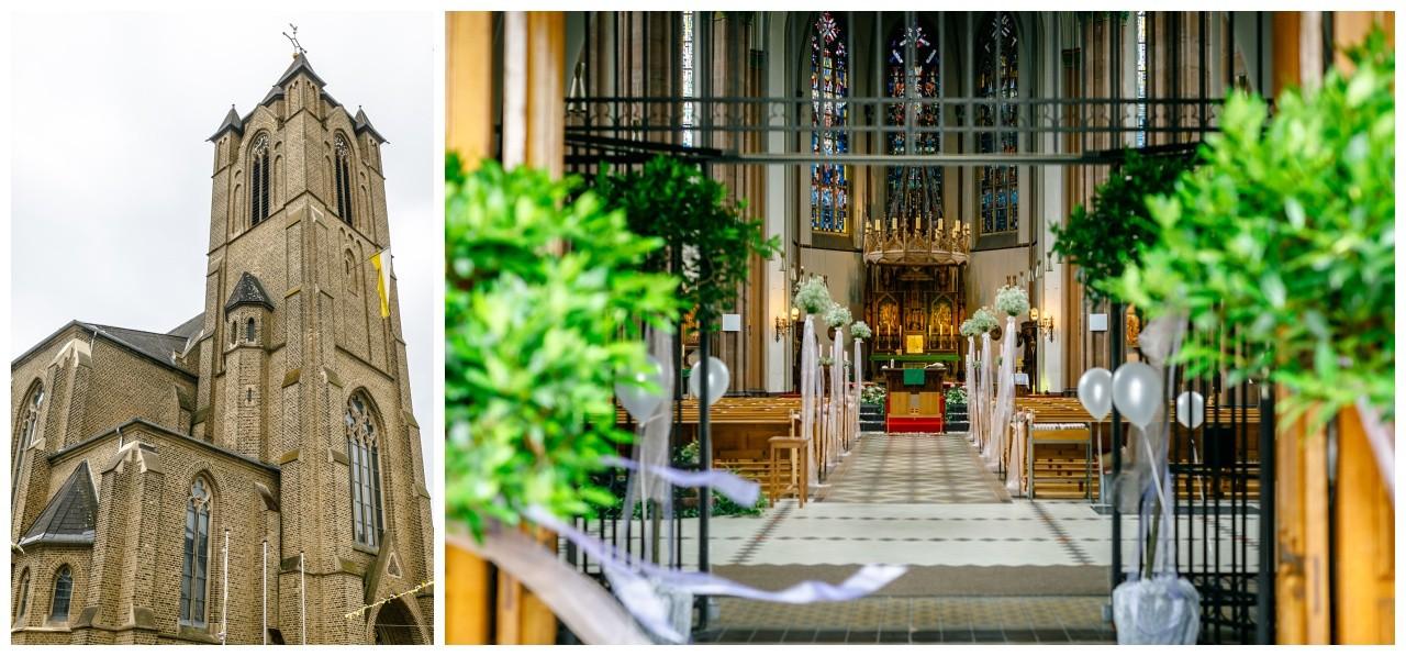 Die St. Joseph Kirche in Mönchengladbach bei der Hochzeit