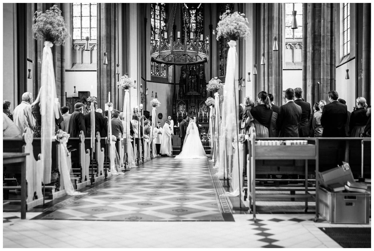 Die St. Joseph Kirche in Mönchengladbach zur Hochzeit